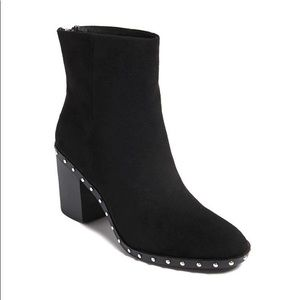 Suede Studded Ankle Boots